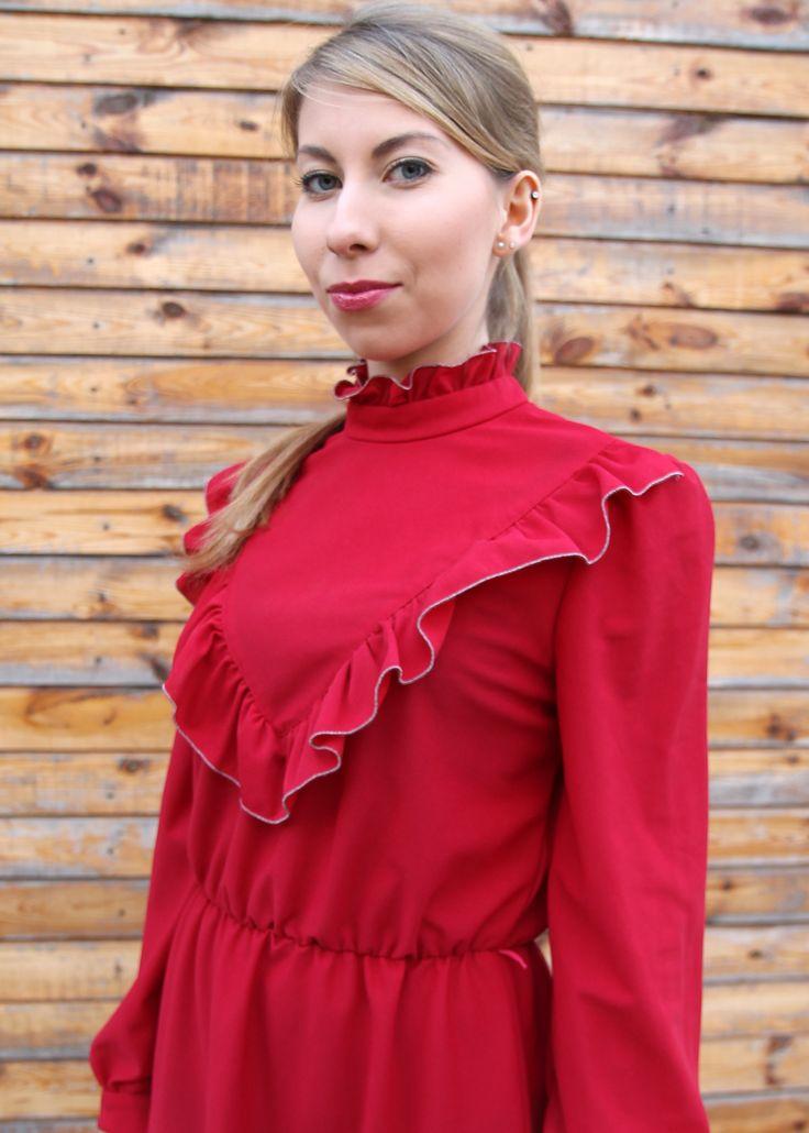 Sukienka Vintage Czerwona. Vintage red dress