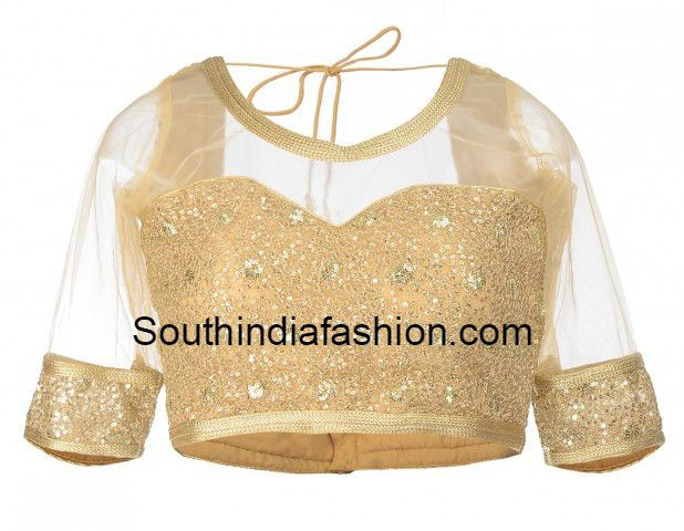 gold_blouse_with_net_neckline