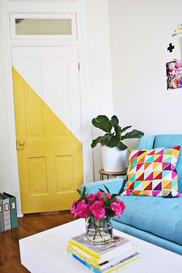 Elsie Larson's Office and creative workspace, it's super cute and colorful I love it!