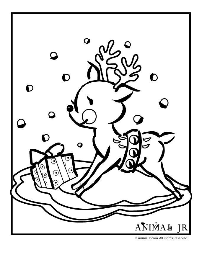 Grab These Coloring Pages Of The Perfect Christmas Animal Reindeer We Also Have A Whole Bunch Other