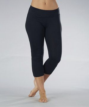 Another great find on #zulily! Marika Black Side Shirred Capri Leggings by Marika #zulilyfinds