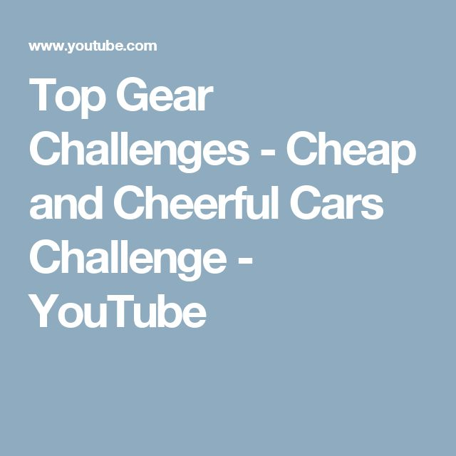 Top Gear Challenges - Cheap and Cheerful Cars Challenge - YouTube