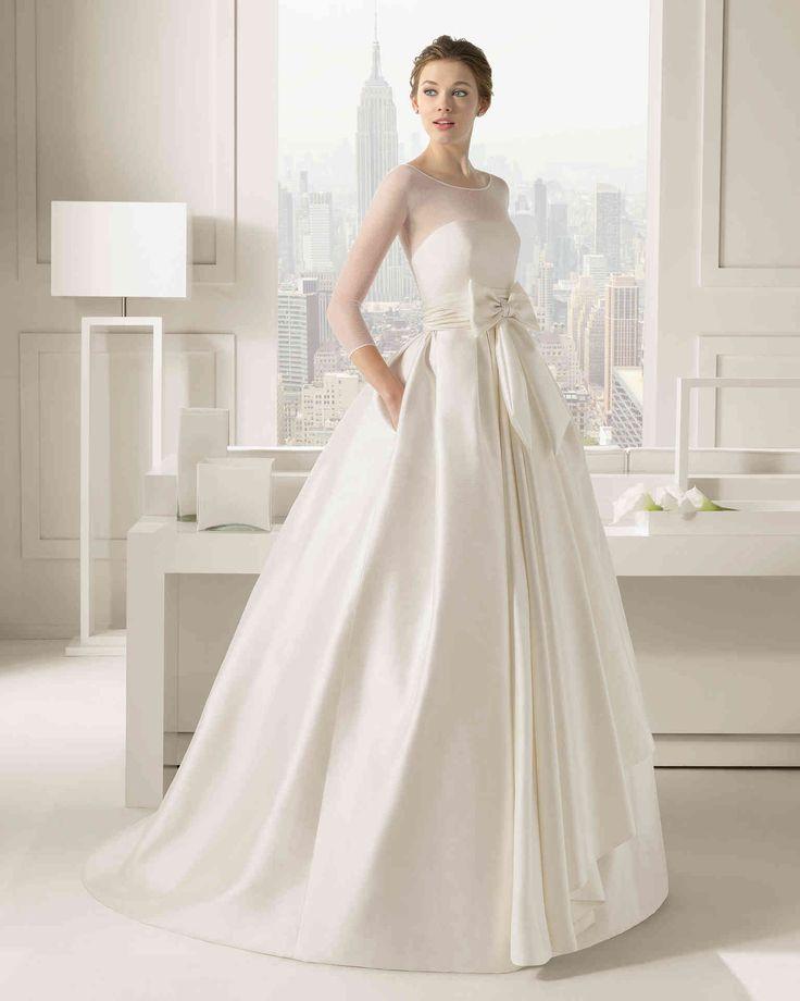 Dathybridal #現代のイリュージョン 七分丈スリーブ ボールガウン 花嫁のドレス #ウェディングドレス Hro0077