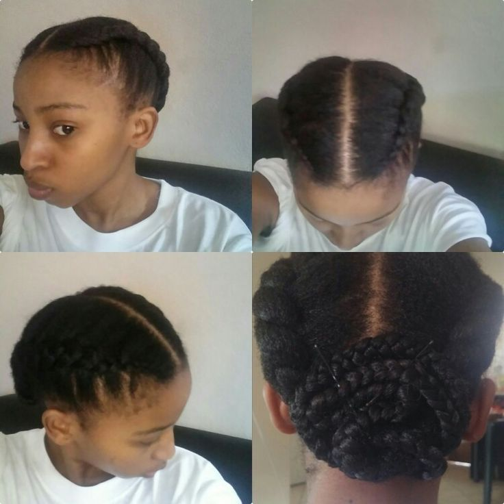 My Go to protective style. Love this simple and easy to do..