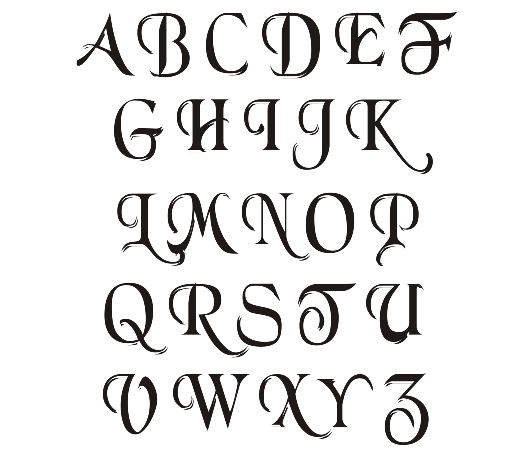 Sample Simple Calligraphy Alphabet | Typography | Simple