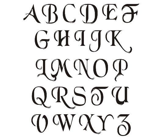 Sample Simple Calligraphy Alphabet | Tattoo Fonts | Pinterest