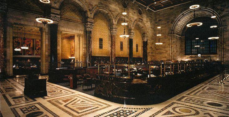 Classic bank interior