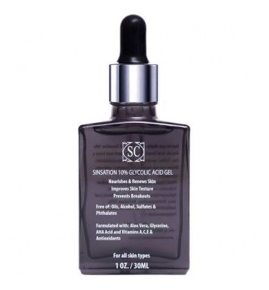 Сыворотка для лица с гликолевой кислотой Sinsation Cosmetics10% Glycolic Acid Gel