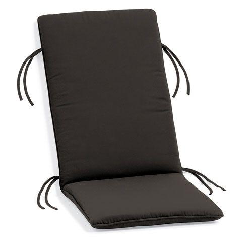 Sunbrella Cushion for Siena Reclining Armchair - Black Sunbrella® Fabric