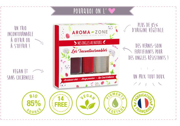 Coffret Vernis à ongles naturels - Aroma-Zone