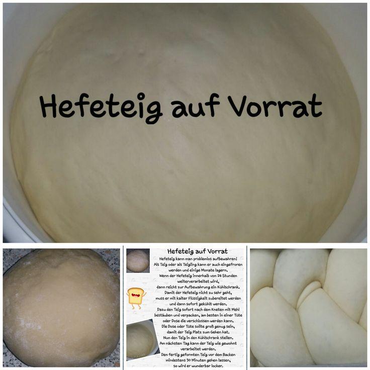 Hefeteig auf Vorrat ♡ Hefeteig kann man problemlos aufbewahren! Als Teig oder als Teigling kann er auch eingefroren werden und einige Monate lagern....