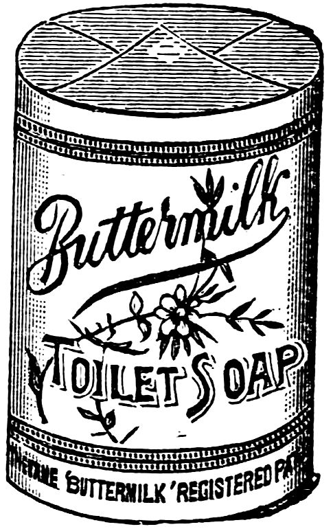 Vintage Advertisement Buttermilk Soap via KnickofTime.net