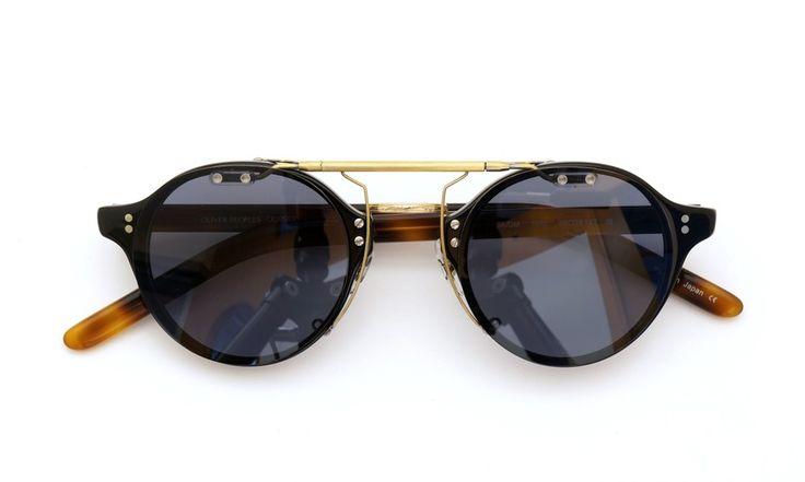 OLIVER PEOPLES 1955 BK-DM original clipon sunglass MiddleGray/AntiqueGold | optician | ponmegane