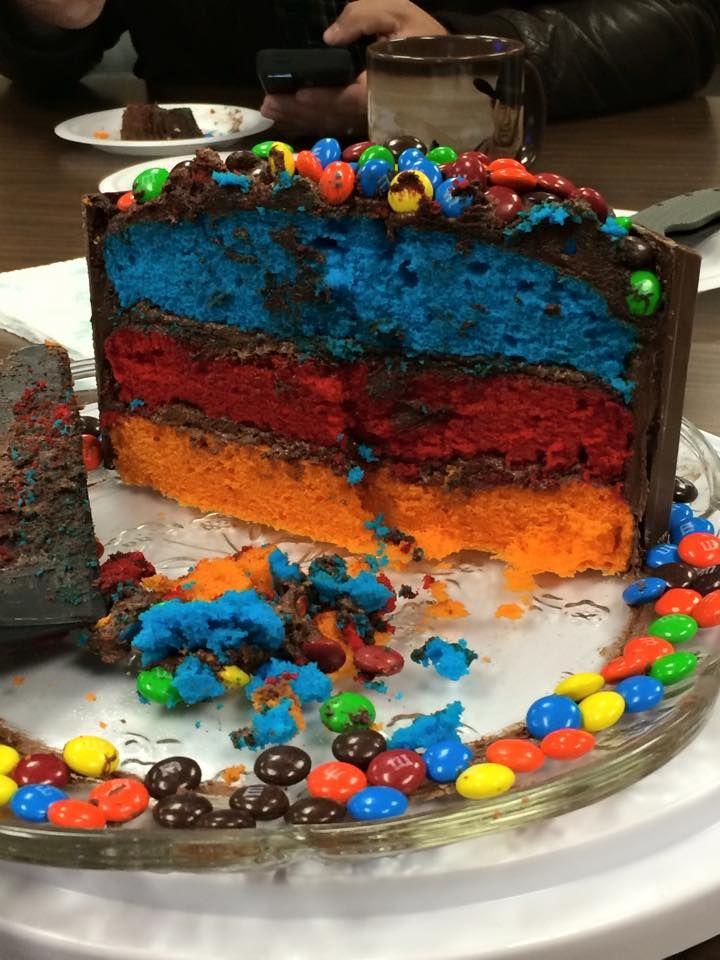 Kit Kat cake inside