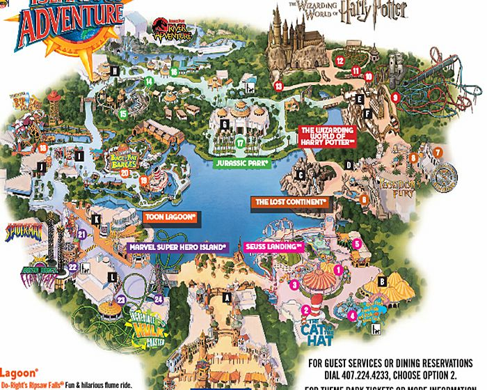 Universal Studio's Islands of Adventure Map- Definitely need maps when we go there!