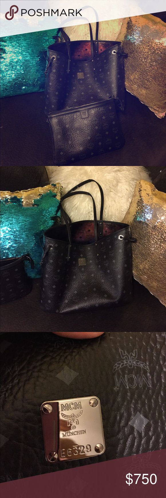 Authentic medium shopper tote&clutch NO TRADES AUTHENTIC MCM REVERSIBLE LIZ SHOPPER TOTE MEDIUM SIZE GALAXY INSIDES COMES WITH BAG CLUTCH PRICE TAG CARE CARD AND WARRANTY CARDS ALSO INCLUDES THE ORIGINAL DUSTBAG PRICE IS FIRM NO TRADES USED TWICE SOLD OUT EVERYWHERE IM NOT ACCEPTING OFFERS POSHMARK TAKES 20% KEEP THAT IN MIND THANKS MCM Bags Totes