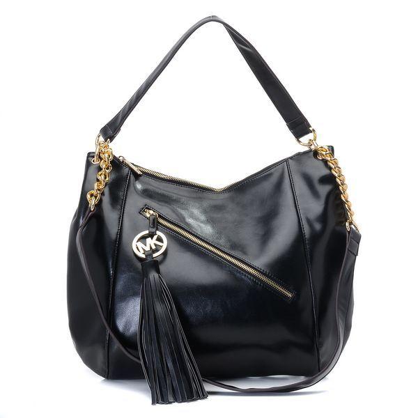 Michael Kors Chain Tassel Large Black Shoulder Bags – Shoulder ...