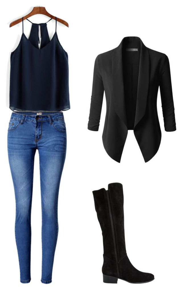 """""""outfits para la universidad"""" by paola-oliveros on Polyvore featuring WithChic and Steve Madden"""