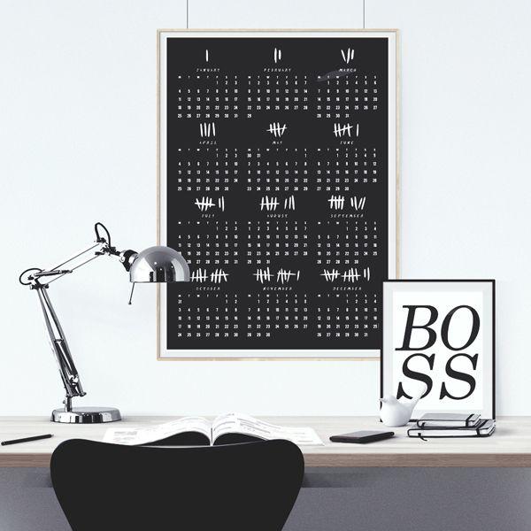 2016 calendar poster - black