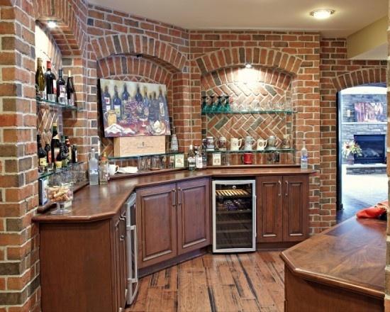 Finished Basement Exposed Brick House Envy Pinterest
