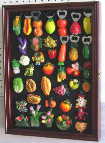 Refrigerator/Souvenir / Sports Magnets Display Case Wall Shadow Box Cabinet, MAG1-CH -- Check this awesome image  (This is an amazon affiliate link. I may earn commission from it)