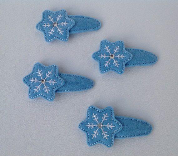 Mollette per capelli Fiocco di neve  Set da 2 di unfilotiralaltro