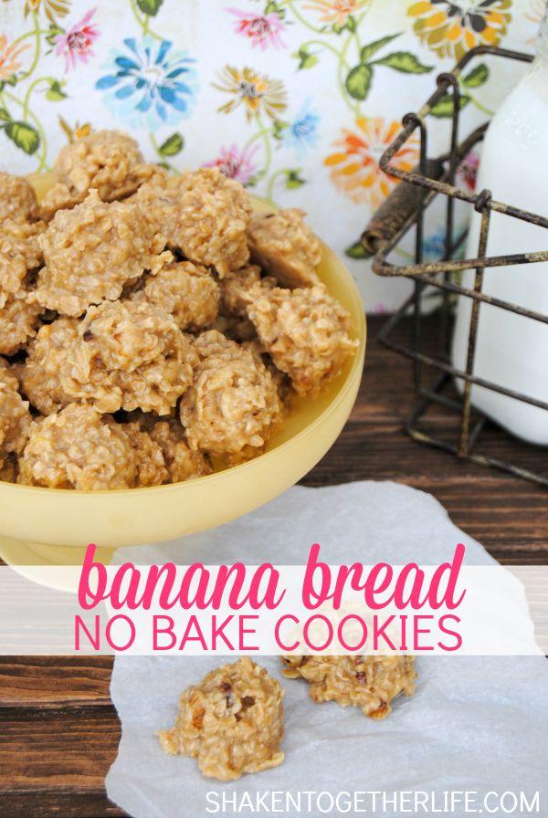Banana bread no bake cookies - these taste JUST like banana bread!