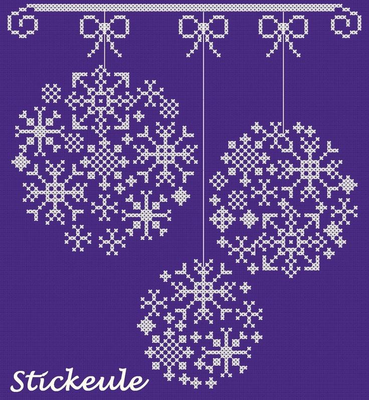 Christmas balls cross-stitch scheme #Christmas #embroidery #crossstitch