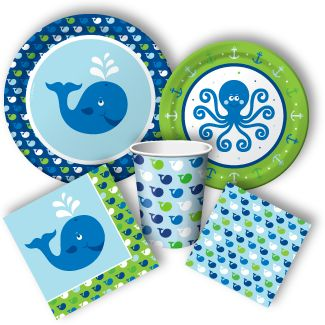 Ocean Preppy Boy Party Supplies, Ocean Babyshower Supplies: Discount Party Supplies