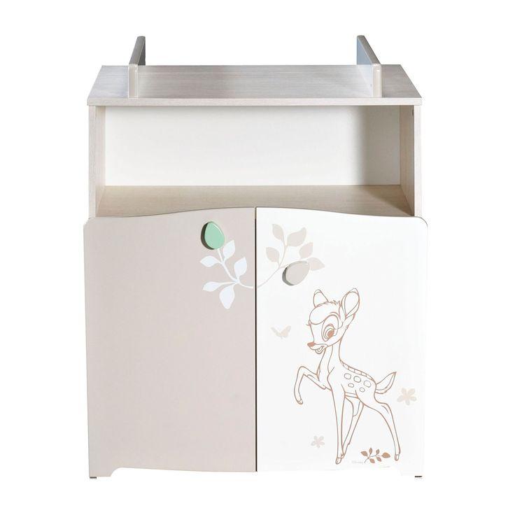Bambi commode 2 portes et 1 niche avec dispositif langer for Chambre de la securite