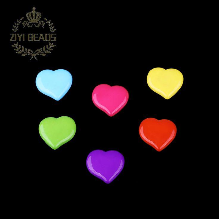 Aliexpress.com: Acheter Mixte couleur unie grand amour coeur perles à la main 20 pcs/lote gros acrylique perles de perçage pour Kid bricolage fabrication de bijoux de des échantillons de billes fiable fournisseurs sur ZIYI Jewelry Facroty