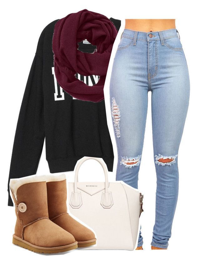 """Untitled #1298"" by lulu-foreva ❤ liked on Polyvore featuring moda, Victoria's Secret PINK, Athleta, Givenchy y UGG Australia"