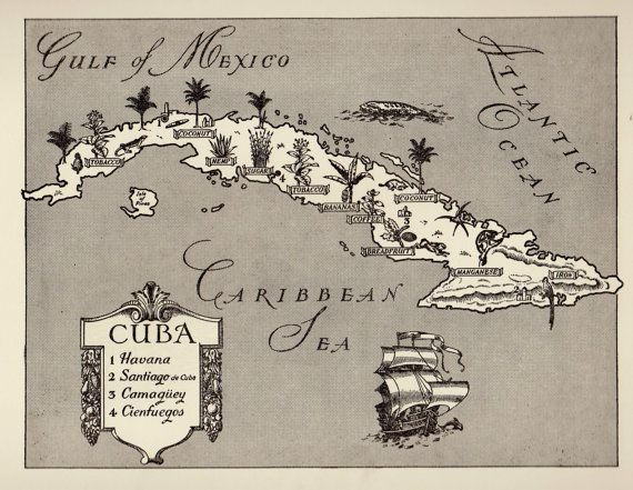 Hey, I found this really awesome Etsy listing at https://www.etsy.com/listing/272960616/charming-cuba-map-of-cuba-whimsical