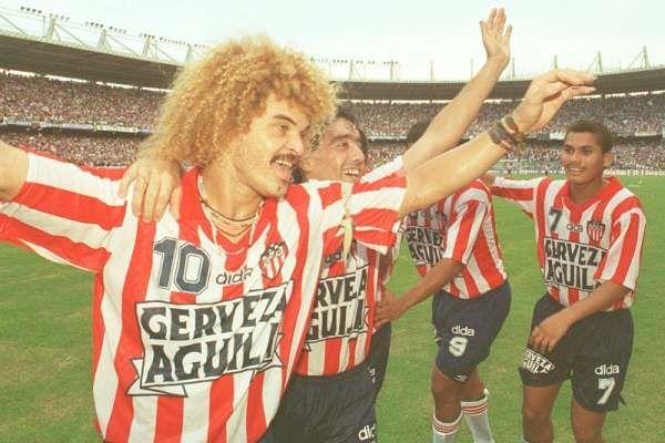 En 1995 Junior llegó a su cuarto título luciendo la camiseta marca Dida.