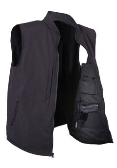 Ultra Force Black Concealed Carry Soft Shell Vest | Buy Now at camouflage.ca