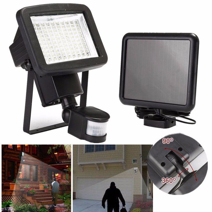 100 LED PIR Solar Security Light Motion Detection Sensor Spot Lamp