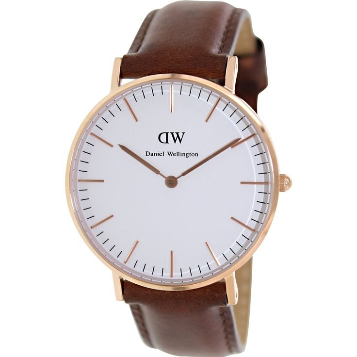 Daniel Wellington Women's Classic St. Mawes 0507DW Brown Leather Quartz Watch