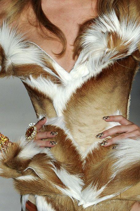 fur corset