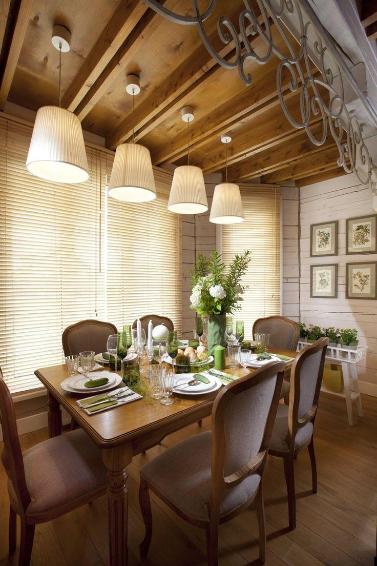 Как оформить интерьер в деревянном доме: дача в Истомино