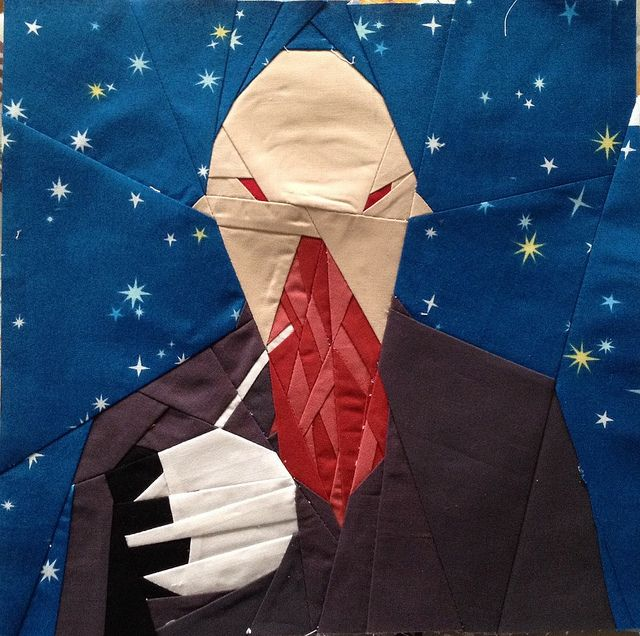 Doctor Who Ood Block 13 Quilt along