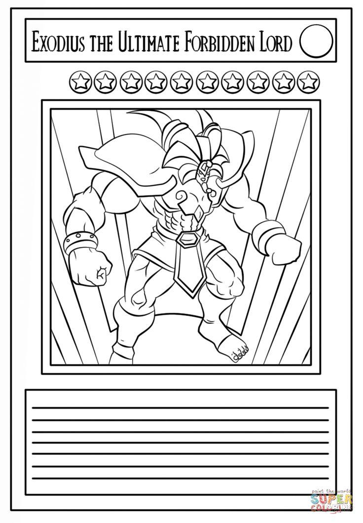 Página para colorir Carta Yu-Gi-Oh!. Categorias: Yu-Gi-Oh!. Páginas de colorir imprimíveis gratuitamente para uma variedade de temas que você pode imprimir e colorir.