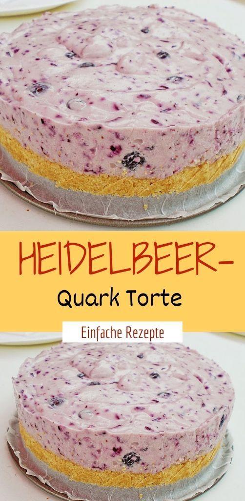 Heidelbeer – Quark Torte  – Einfache Rezepte ❤️