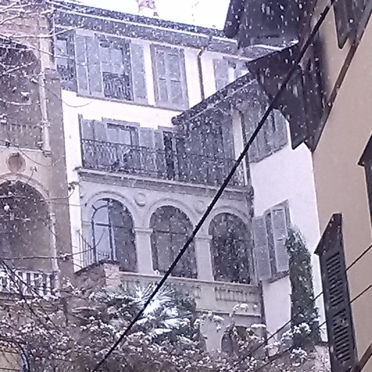Snowing in the Upper Town...!