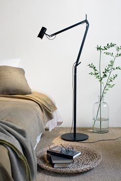lampadaire design LED Polo noir  #vraimentbeau #marset #designlight #black #luminaire #lampadaire #floorlamp