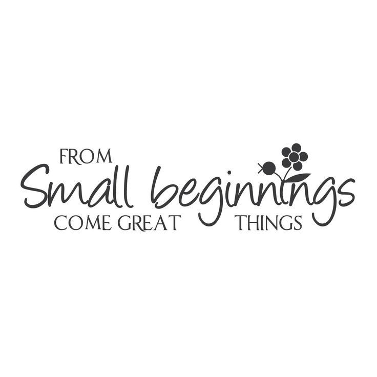 great things start from small beginnings essay 24-12-2017 find her best & new 101 low cost small business ideas you can essay types writing exam in english of start in 2018 what's the origin great beginnings.