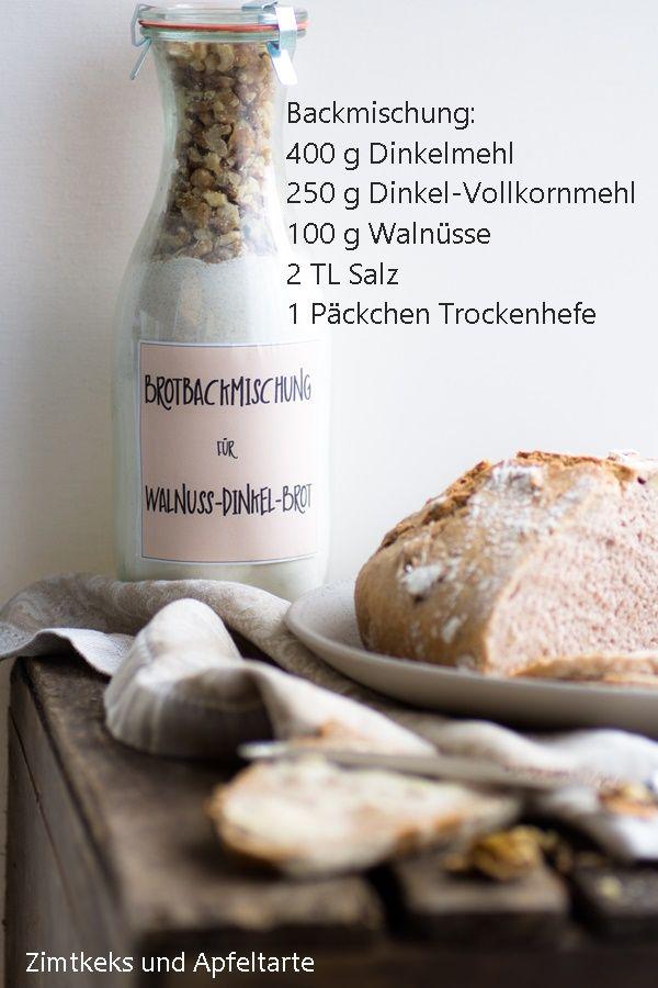 Dinkel-Walnuss-Brot zum Backen und als Backmischung - Zimtkeks und Apfeltarte