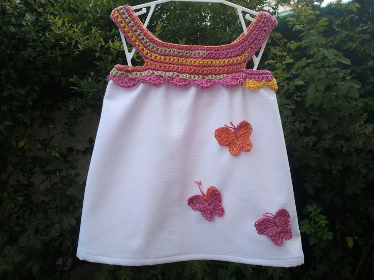 Buenas tardes, para participar en el *Proyecto mariposa* organizado por Creaciones art'isticas y artesan'ias , he preparado este vestido....