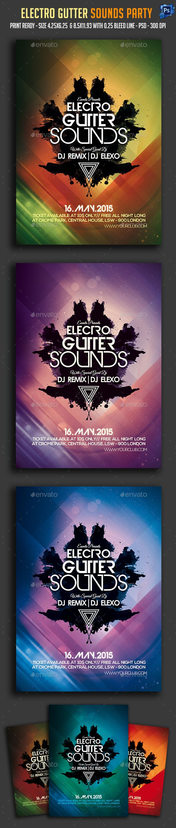 Electro Gutter Sounds Party Flyer
