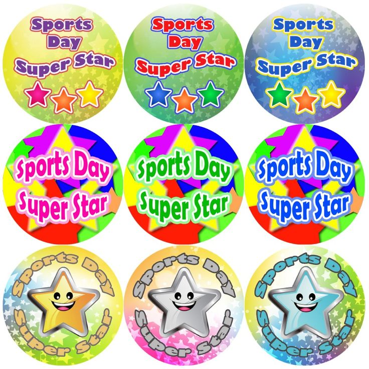 These Sports Day Star themed reward stickers are perfect to make a big impression and to encourage your pupils to take part in sports day. 144 stickers per pack, 30 mm in size.
