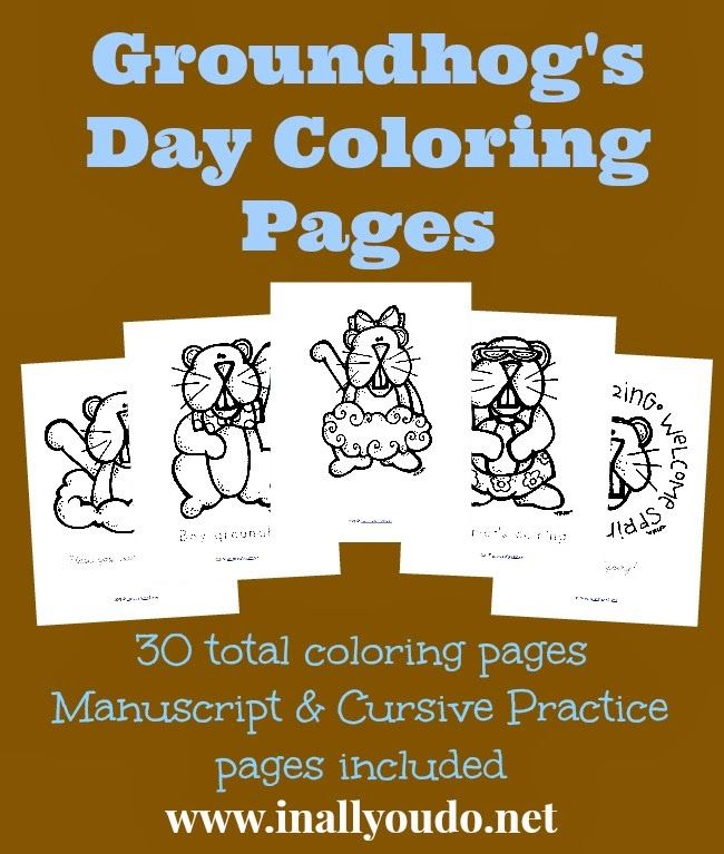 219 best groundhog day images on pinterest | groundhog day, ground ... - Groundhog Day Coloring Pages Kids